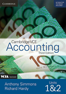 NEW - Cambridge VCE Accounting Units 1&2 (3e) (print and digital) - FREE POSTAGE