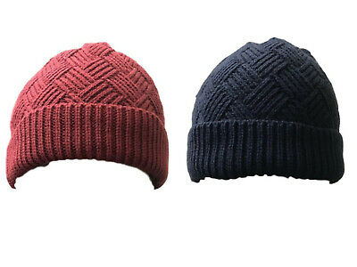 Ladies Knitted Winter Hat Ski Warm Cosy Fleece Lined Beanie Outdoors Cap