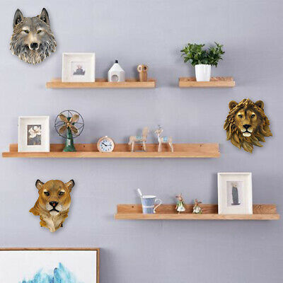 Realistic 3D Wall Hanging Animal Head Gift Wolf Synthetic Resin Mounted Ornament