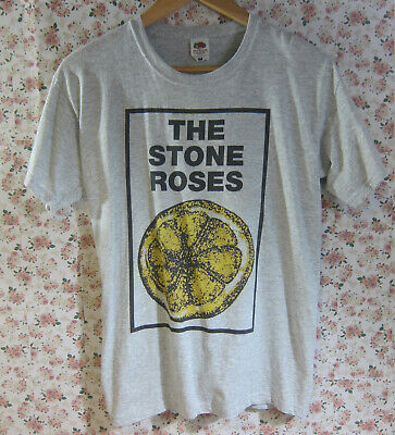 STONE ROSES LEMON LOGO T SHIRT ROCK INDIE MADCHESTER OFFICIAL LICENSED