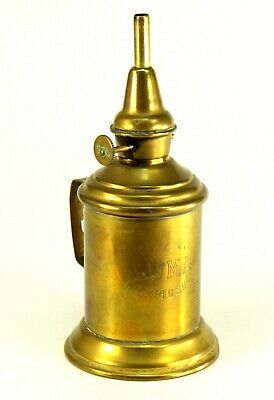 ~ Antique c.1884 French Brass LUMA Pigeon-Type Gasoline Petrol Lamp Lampe Pigeon