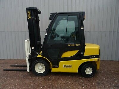 YALE GDP30VX. 3600mm LIFT. USED DIESEL FORKLIFT TRUCK. (#2623)