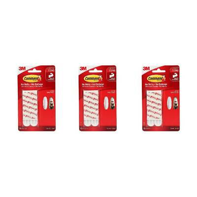 3M 17023P Command Large Refill Strips Hook Hanging No Damage Strong White,3-Pack