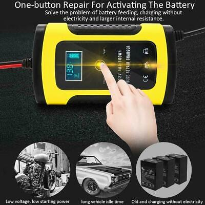 12V LCD Intelligent Smart Car Battery Charger Auto Motorcycle Pulse Repair C8O7I