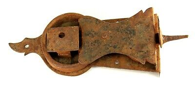 ~ Antique 18th c. Door Lock & Latch Set Hand Forged Iron