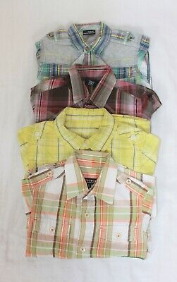 Boys Bundle Next George Duffer 4 Checked Short Sleeved Shirts age 3 3-4 4 Years