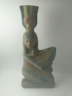 RARE ANTIQUE ANCIENT EGYPTIAN Statue of Goddess Winged Isis 380-362 Bc
