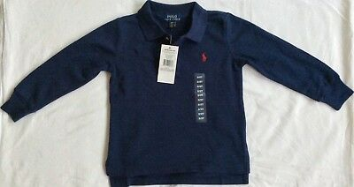 New Ralph Lauren Boys Long Sleeved Polo-Shirt 4T/4 Years-Navy