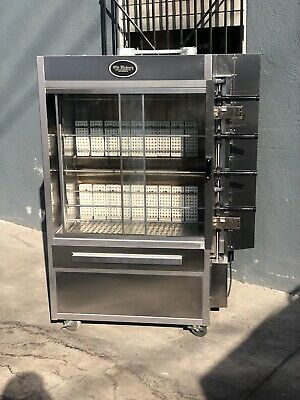 Old Hickory Chicken Commercial Rotisserie Oven N/3GRH 4 Spits 16 Chickens Gas
