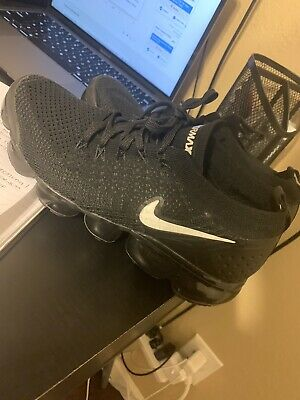 Nike Air Vapormax Flyknit 2 Men's Running Shoes Black White 942842-001 Size 7.5
