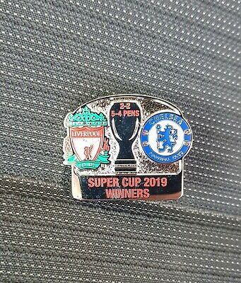 Liverpool vs. Chelsea European Super Cup Winners Match Badge 2019