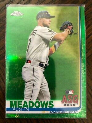 2019 Topps Chrome Update Green Refractor Austin Meadows #96/99 Tampa Bay Rays