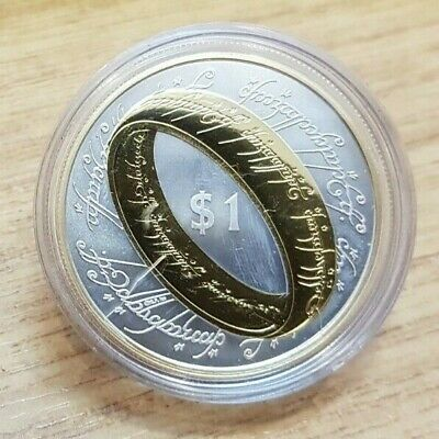 2003 New Zealand Lord of the Rings One Ring 1 oz 925 Silver Proof $1 One Dollar