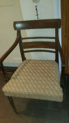 Antique early 19th Century mahogany library chair, dining, bedroom, desk.