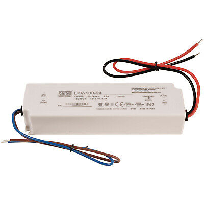Alimentatore 35W Mean Well LPV-35-24 24V 1.50A trasformatore per luci LED IP67