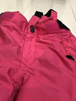 Wedze Girls Pink Ski Trousers Pull N Fit Age Approx 5-7 Inside Leg 60 cm