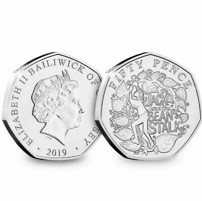 CHRISTMAS PANTOMIME 50p COIN 2019 BRILLIANT UNCIRCULATED JACK & THE BEANSTALK..
