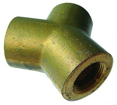 "CIY08 ITM Brass Y Connector Tube O/D 1/2"" Equivalent 34012707"