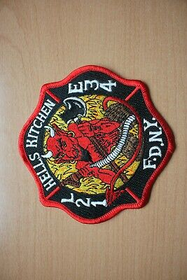Patch : F.D.N.Y. Hells Kitches 115 mm x 115 mm