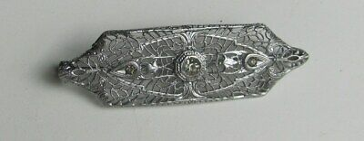 Antique Ostby & Barton Sterling Silver 925 Art Nouveau Filigree Pin Brooch