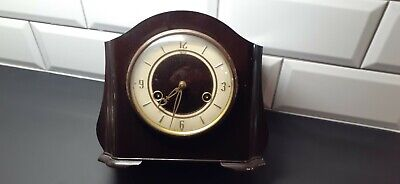 Antique Art Deco Smiths  Bakelite Cased Mantel Clock (Chime Key Pendulum)