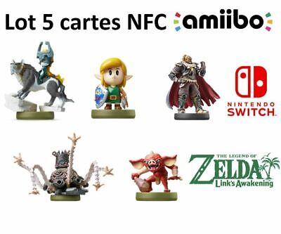 🔴Lot 5 Cartes Amiibo The legend of zelda : Link's Awakening - Switch 🔴