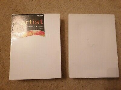 BN *Partners* chunky stretched canvas canvases x2   6x8 inches