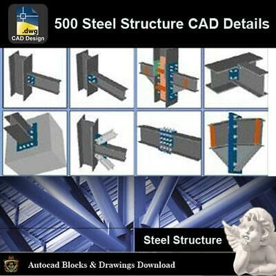 【Over 500+ Types of Steel Structure CAD Details Bundle】All Steel Structure CAD