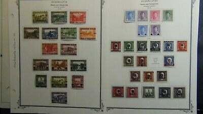 Yugoslavia stamp collection on Vintage Repro Scott pages w/ est. 515 stamps