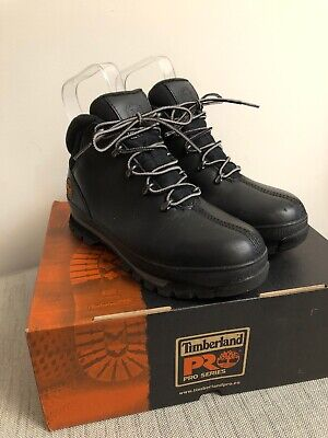 Timberland Splitrock Pro Black Leather Safety Steel Toe Boots Size 4 Boxed