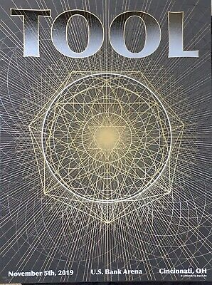 Tool Poster cincinnati 2019 tour limited edition of 650 2 layers mint