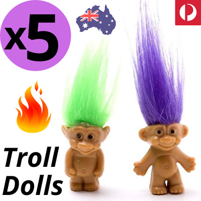 5pcs TROLL DOLLS Crazy Hair Figurine Kids Toy Party Decoration Good Luck Doll