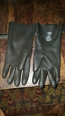 0.030 Thickness Box of 6 Pairs Size 11 Black MAPA Chem-Ply N-440 Neoprene Glove 14 Length Chemical Resistant