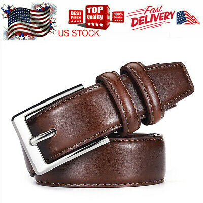 Genuine Leather Belts For Men Dress Belt for Mens Woman Many Colors & Sizes US