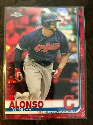 Yonder Alonso 2019 Topps Chrome Sapphire #328 Red Refractor 2/5 Sweet!