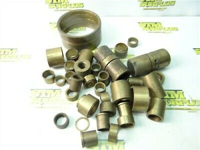 """7Lb Lot Of Assorted Bronze & Brass Bushing Stock 7/8"""" To 4"""" Dia"""