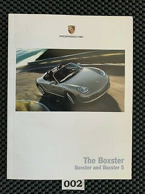 2006 Porsche Boxster + Boxster S Owner's Book Catalog Performance Specifications