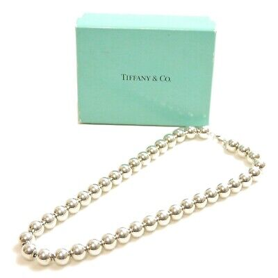 Authentic Tiffany & Co. Necklace hardware ball Sterling Silver #9249