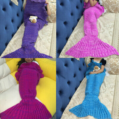 Fast UK Dispatch Teens Adults Mermaid Fish Tail Blanket Lounge Gift Present