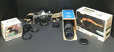 Canon AE-1 Program Camera with FD 50mm F/1.8 Lens with Battery and extra Samigon