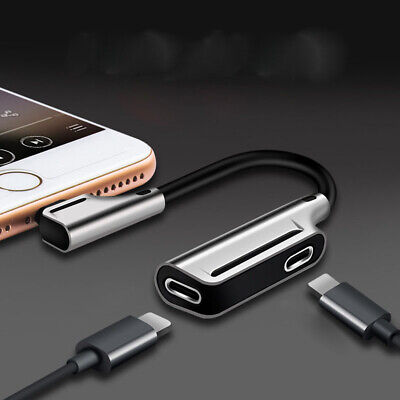 2 in 1 Charge  Cable  Audio  Lightning  Splitter  Headphone  For iPhone 3.5mm