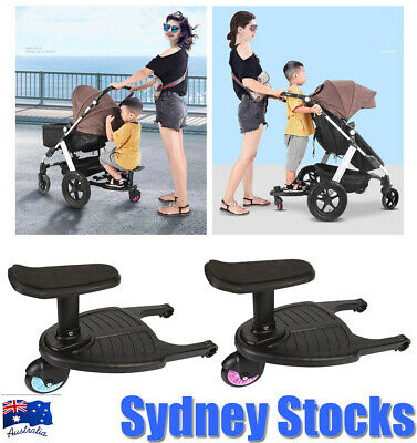 Universal Baby Stroller Board Step Seat Stand Connectors Toddler Buggy Wheel AU