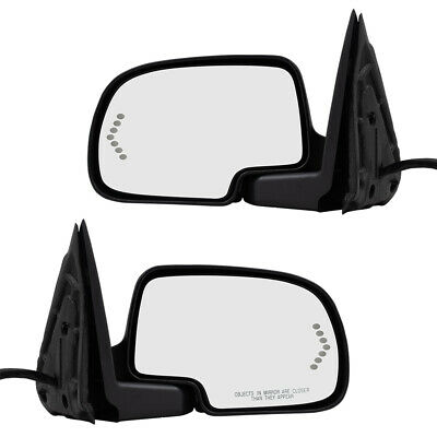 Pair Set Power Folding Side Mirrors Heated Signal Memory for 03-07 GM Pickup SUV