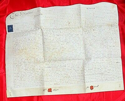 Vellum indenture Antique legal document  Brecon land lease 1806 Morgan Samuel 6N