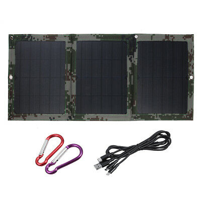40W 5V Dual USB Sunpower Foldable Solar Panel Battery Charger Kits For Emergency