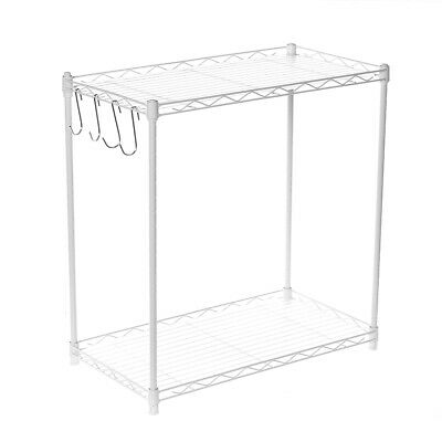 2 Tier Adjustable Steel Wire Shelving Unit Metal Rack Home Kitchen Storage Shelf