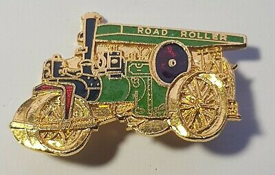 Road Roller Steam Traction Engine Pin Badge