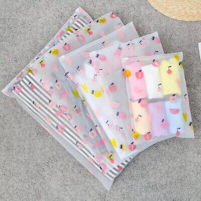 2pcs Plastic Storage Travel Bags Zip Lock CLothes Packing Pouch Organizer Clear