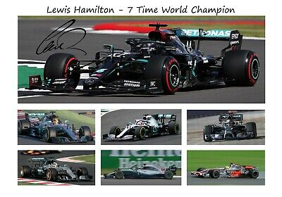 Lewis Hamilton Signed 6 Time World Champion 2019 Print