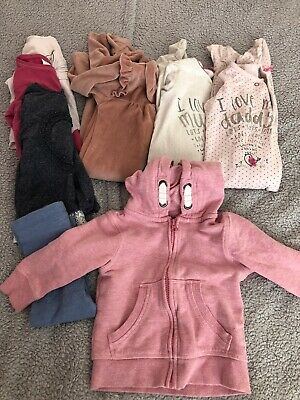 9-12 Month Girls Bundle Sleepsuits Tops Hoody Mostly Next